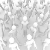 Walking crowd 2d Royalty Free Stock Photo