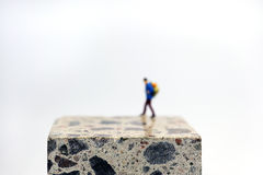 Walking on cube Stock Images