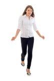 Walking Cute Girl. Royalty Free Stock Images