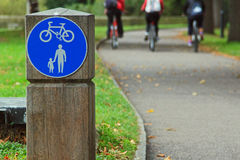 Walking and cycle path Royalty Free Stock Photography