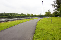 Walking and cycling path Royalty Free Stock Photos