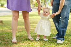 Walking with daughter Stock Photography