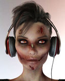 Walking dead dj passaport portrait Stock Photo
