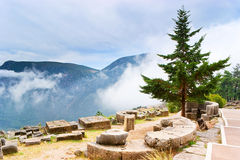 Walking in Delphi Royalty Free Stock Photography
