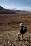 Walking in Denali. Day Trip in Denali National park in Autumn Alaska North America Royalty Free Stock Image