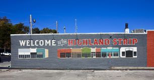 Highland Strip Welcome Center, Memphis, Tennessee Royalty Free Stock Images