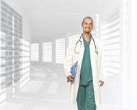 Walking doctor Royalty Free Stock Photos