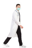 Walking doctor Stock Image