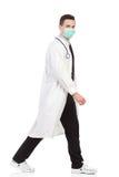 Walking doctor Stock Image