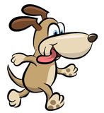 Walking dog clipart Stock Photography