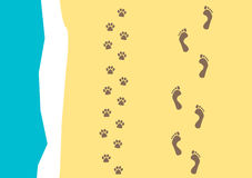 Walking the dog  pattern Royalty Free Stock Photos