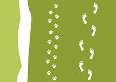 Walking the dog pattern Stock Photography