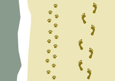 Walking the dog pattern Stock Photos