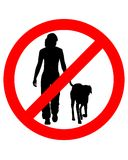 Walking with dogs Royalty Free Stock Photo