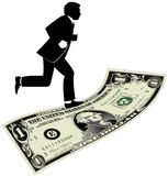 Walking on a Dollar Stock Photo