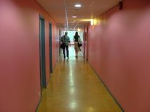 Walking down the corridor Stock Photos