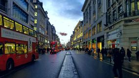 Walking down Oxford street. Picture took in oxford street by samsung galaxy s6 close the  underground station Royalty Free Stock Photography
