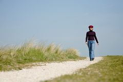 Walking down the road Royalty Free Stock Photo