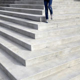 Walking Down Steps of Law Building Stock Photography