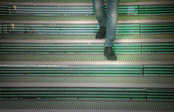 Walking down the steps Royalty Free Stock Photography