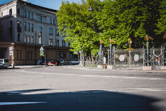 Walking down the street people. Saint Petersburg, Russia - June 05, 2016: Walking down the street people. 05 June 2016 in Saint Petersburg, Russia Royalty Free Stock Image