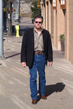 Walking Downtown Stock Photography