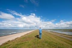 Walking in Dutch nature Royalty Free Stock Image