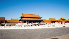 Walking from east to west in Forbidden City. Beijing, China stock footage