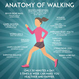 Walking effects infographic vector illustration. Royalty Free Stock Images