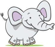Walking Elephant. Cartoon Illustration of walking elephant Stock Photos