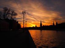 Sky and Kremlin stock image