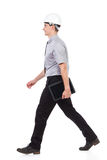 Walking engineer with tablet Stock Images