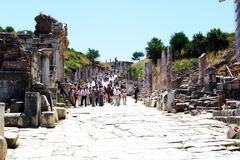 Walking in ephesus Stock Images