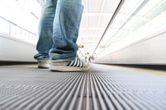 Walking on Escalators Moving way Stock Photography