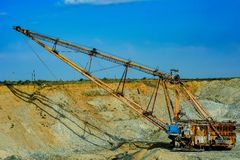 Walking excavator Stock Image
