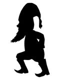 Walking, fabulous gnome. Silhouette of walking, fabulous gnome Royalty Free Stock Photo