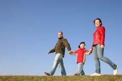 Walking family stock image