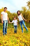 Walking family Royalty Free Stock Photo