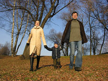 Walking family Royalty Free Stock Photos