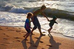 Walking family Stock Photography