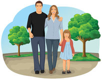 Walking family Royalty Free Stock Images
