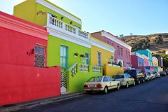 Bo Kaap street south africa cape town stock photography