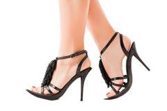 Walking feet of a woman Royalty Free Stock Photos