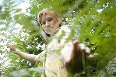 Walking Through Ferns Profile Stock Photos
