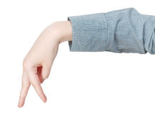 Walking finger man - hand gesture Stock Photo