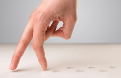 Walking fingers concept Royalty Free Stock Photography
