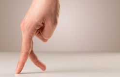 Walking fingers concept Stock Image