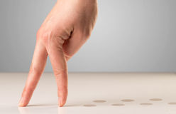 Walking fingers Stock Photography