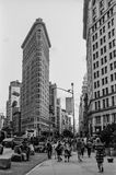 WAlking by Flatiron Building Stock Photography