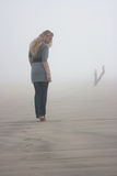 Walking in fog Royalty Free Stock Photo